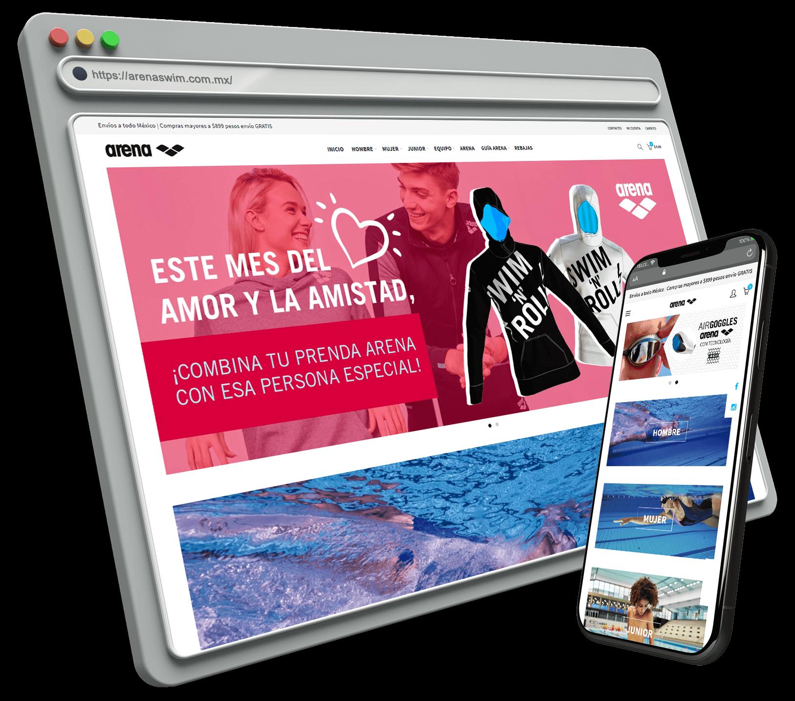 Tienda exitosa con Shopify México : ArenaSwimweard