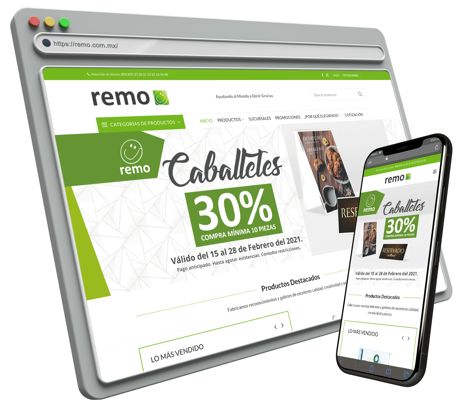 Mockup REMO Catalogo