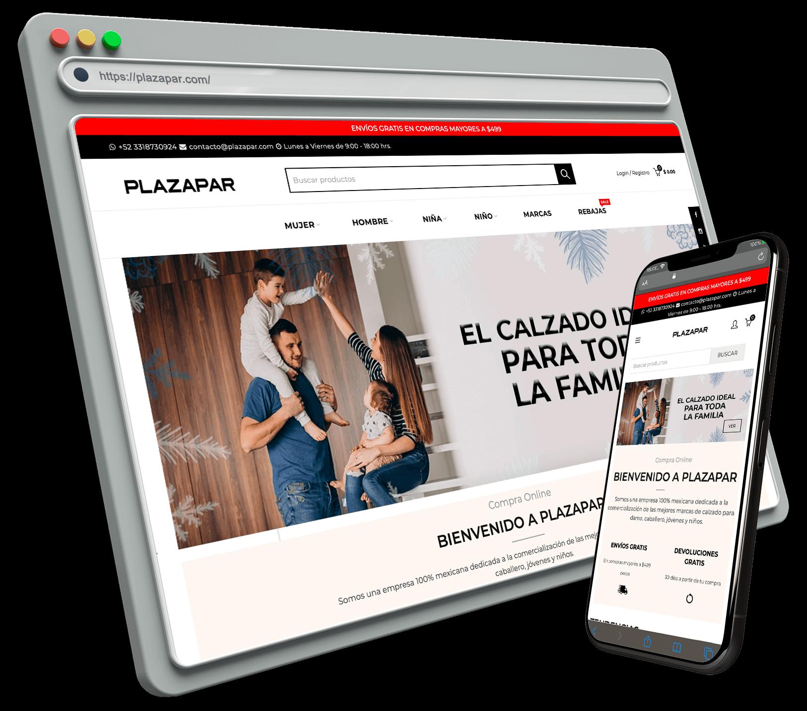 Mockup Shopify Expert Plazapar Conector SizeColors